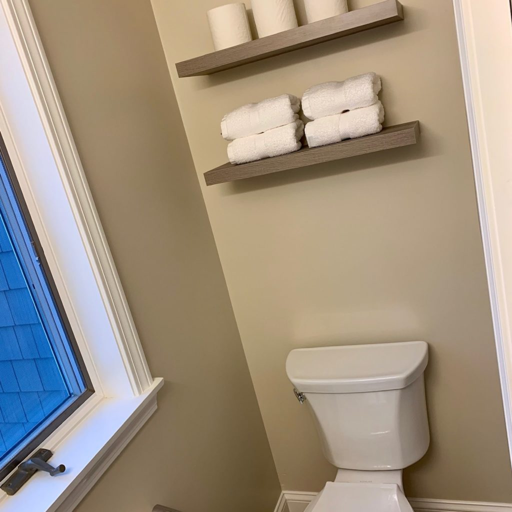 1st Floor Half Bath shelves